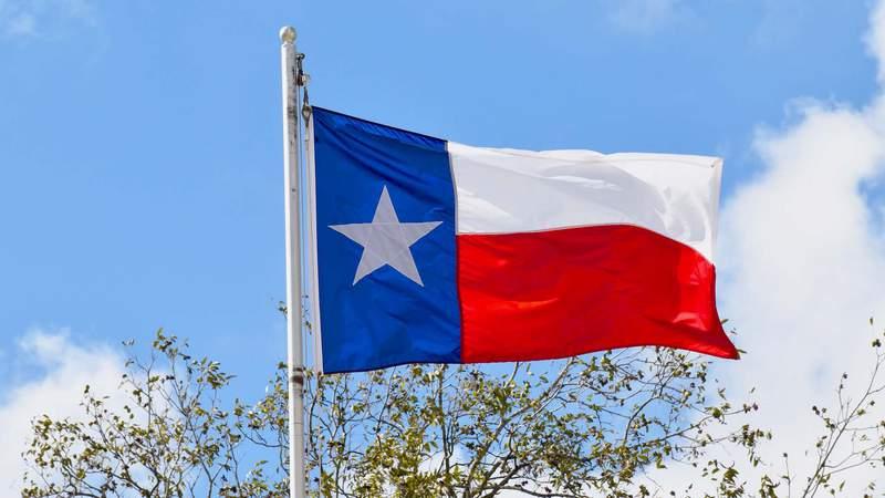 Texas state flag stock image.