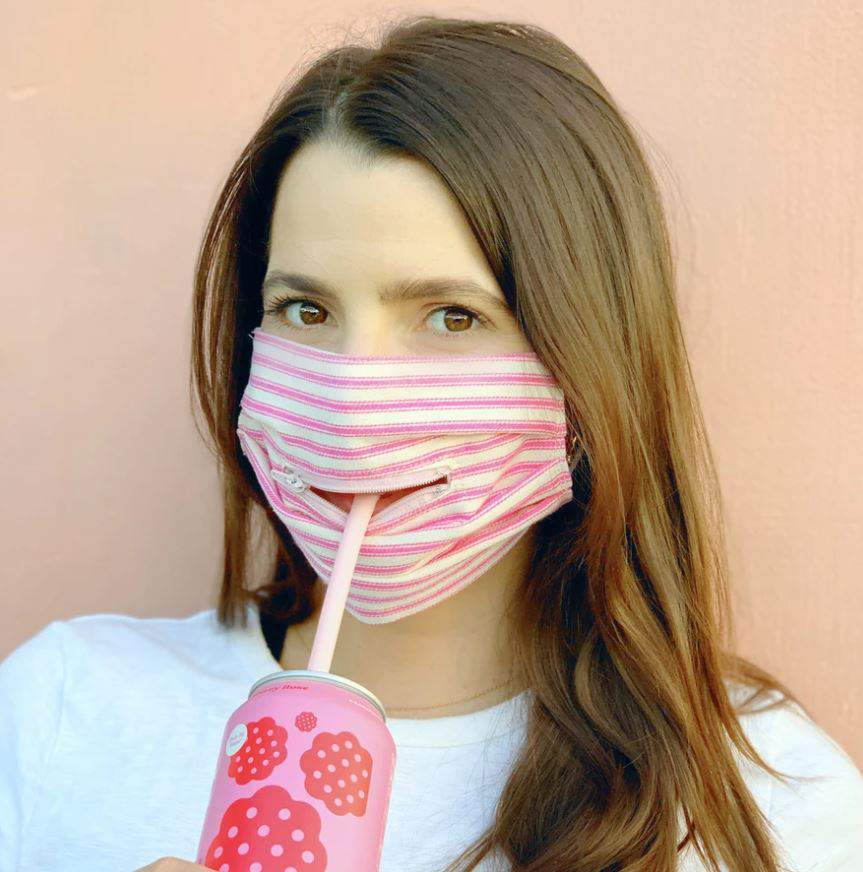 Masks with zippers: Houston women launch coronavirus-era masks that provide  access to your mouth