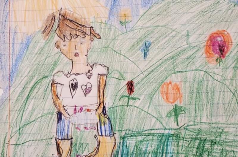 Artwork by nine-year-old Addison