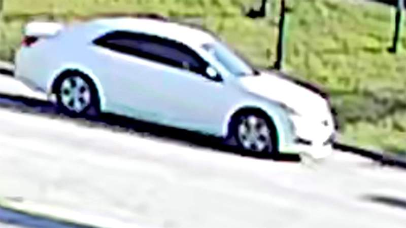 Police released this image of a vehicle being sought in connection with a fatal shooting in north Houston on Jan. 18, 2021.