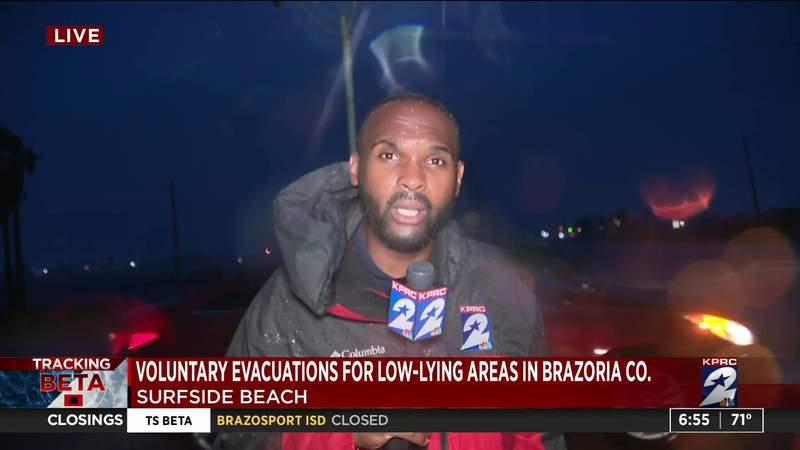 Voluntary evacuations for low-lying areas in Brazoria County