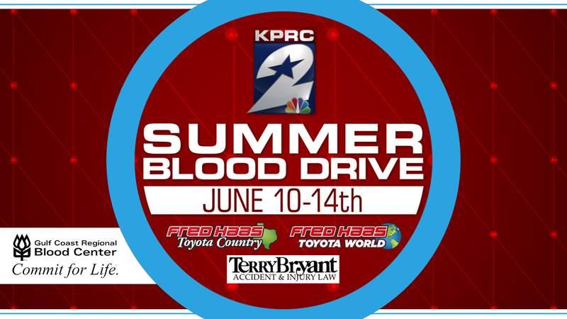 KPRC 2's Summer Blood Drive 2021