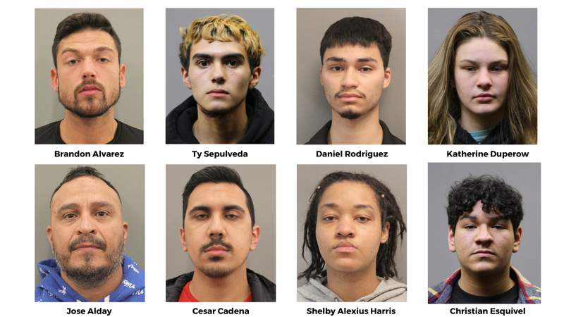 These 8 are among the 43 arrested overnight in crackdown on illegal street racing, according to HCSO.
