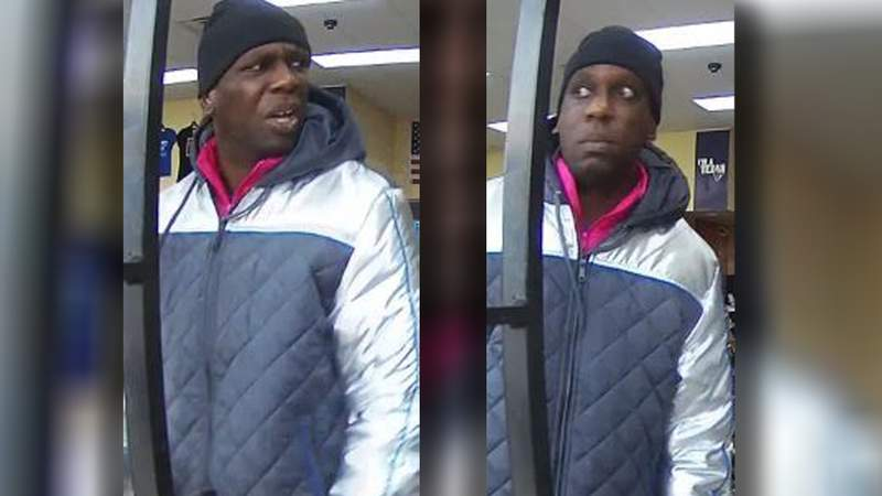 Police are searching for this man, who is wanted in connection with a robbery.