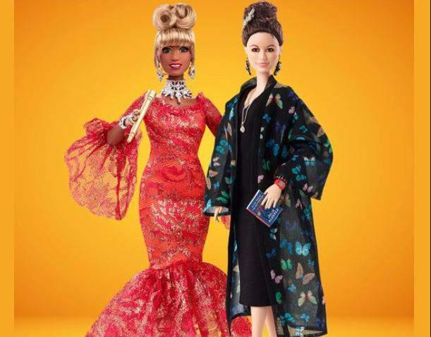 Celia Cruz (left) and Julia Alvarez are immortalized as Barbie dolls in a release on Wednesday.
