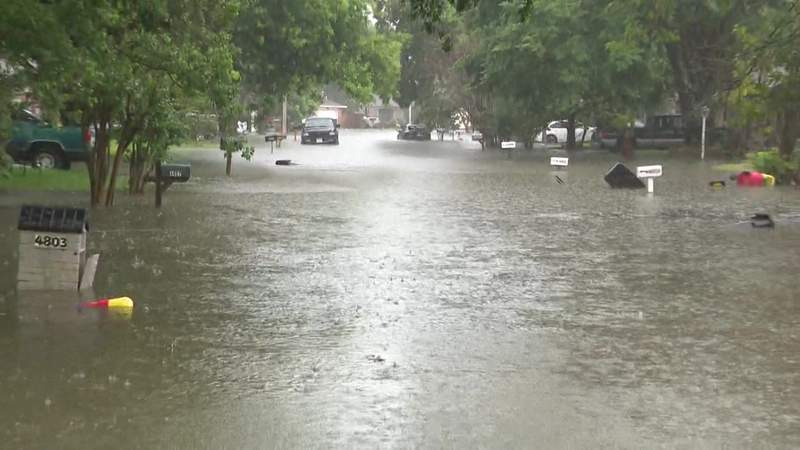 High water in Bacliff, Galveston County