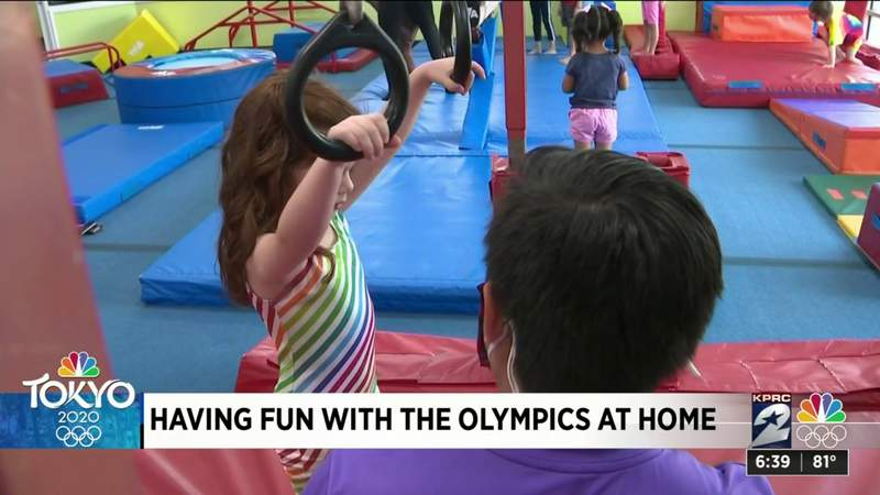 Here are ways for children to have fun with Olympic games at home