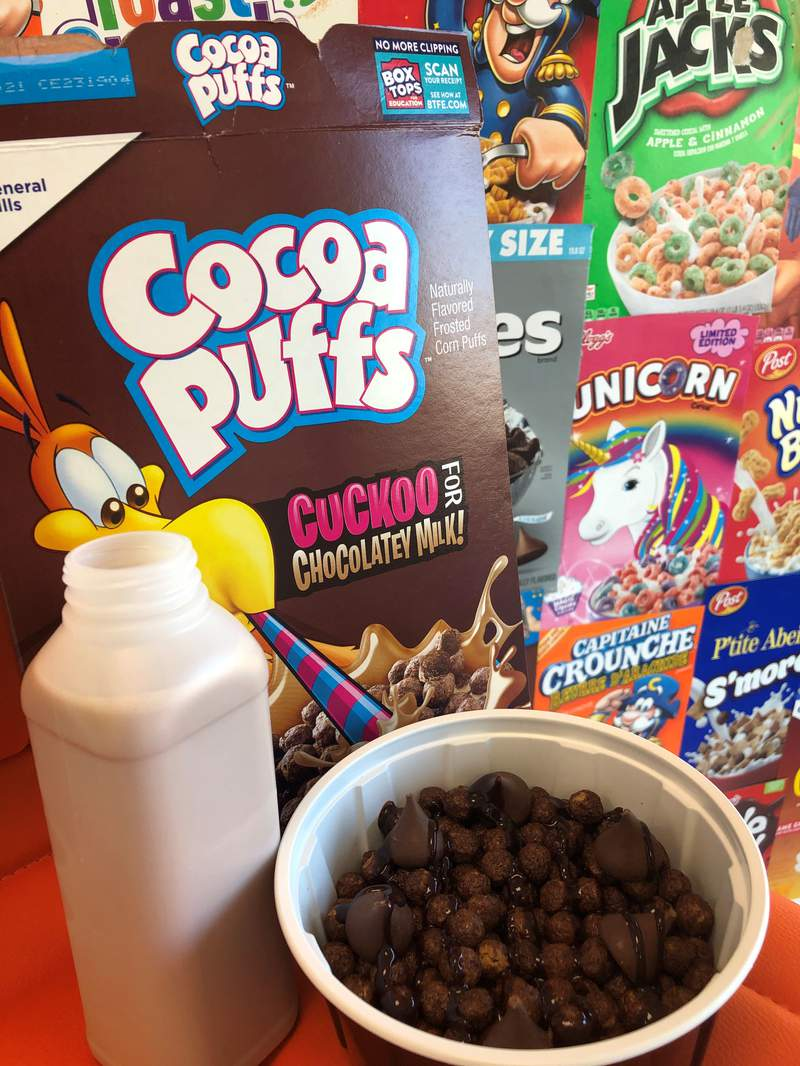 """""""Nothing But Chocolate"""" cereal creation from Taste Buds Cereal Bar in Katy, Texas"""