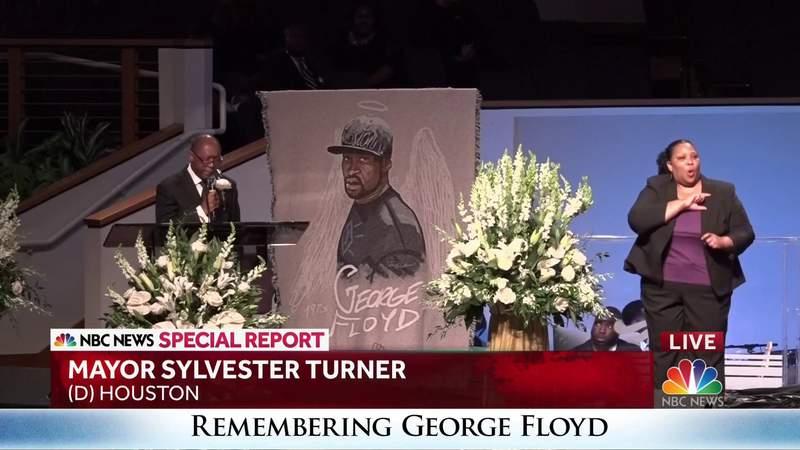 Mayor Sylvester Turner speaks at George Floyd's funeral