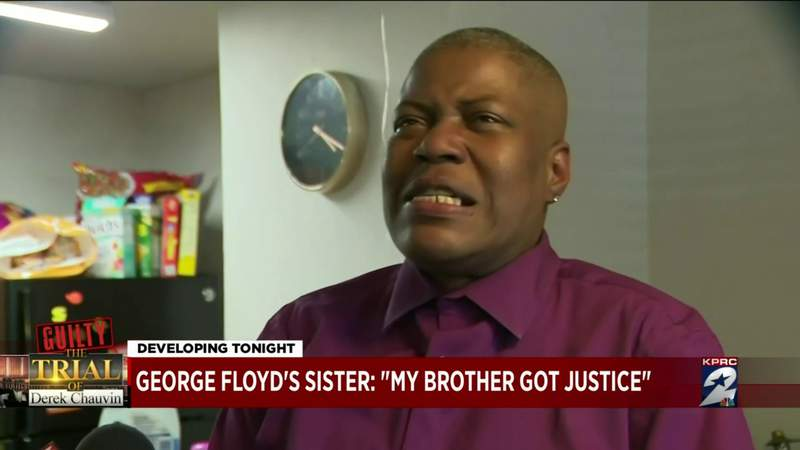 George Floyd's sister: My brother got justice