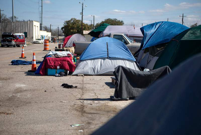Advocates for homeless Texans worry a new state rule barring people with certain criminal records from some tax-supported housing will cut homeless people off from a path to permanent housing. (Credit: Miguel Gutierrez Jr./The Texas Tribune)
