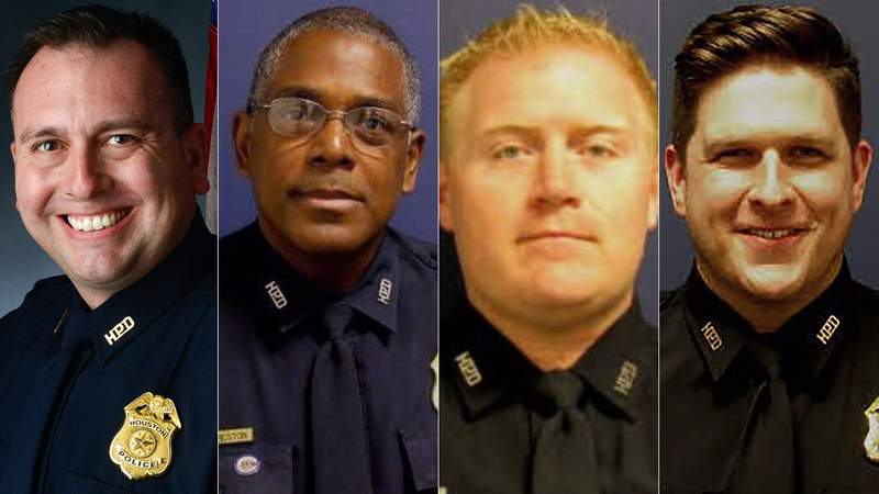 From left to right: Sgt. Sean Rios, Sgt. Harold Preston, Officer Jason Knox and Sgt. Christopher Brewster.