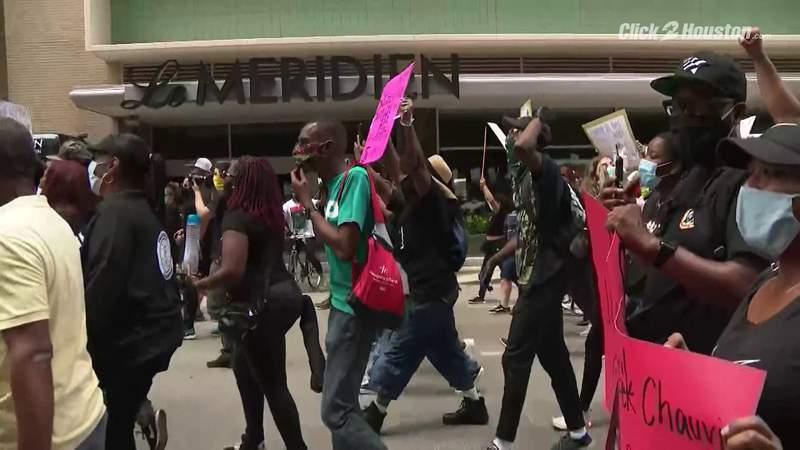Black Lives Matter protest in Houston seeking justice for George Floyd pt. 4