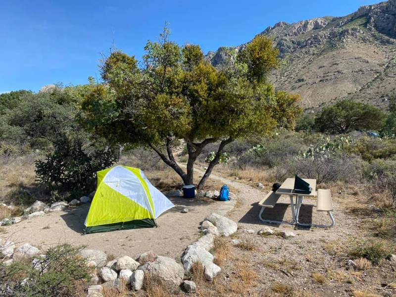 Camping at Guadalupe Mountains National Park