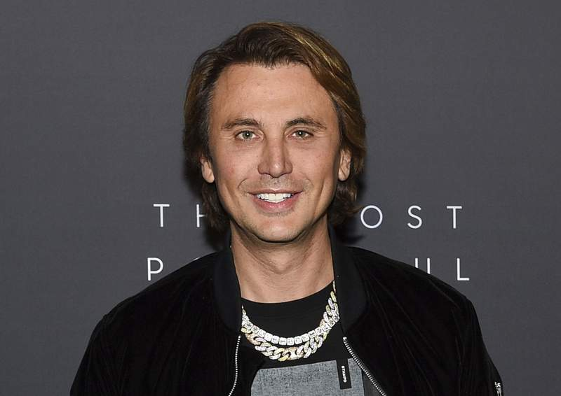 FILE- In this April 11, 2019, file photo, television personality Jonathan Cheban attends The Hollywood Reporter's annual Most Powerful People in Media cocktail reception in New York. On Friday, Nov. 20, 2020, federal authorities in New York City charged a man for stealing Cheban's $250,000 watch at gunpoint. The holdup occurred in August 2020, when Cheban was arriving at a friend's house in Englewood Cliffs, N.J., police said. Two men approached and asked for the time before pulling a gun and making off with the victim's Richard Mille timepiece, police said. (Photo by Evan Agostini/Invision/AP, File)