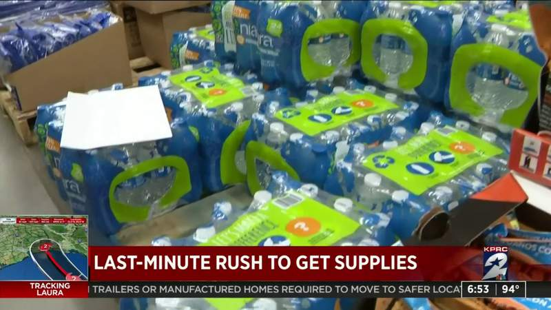 Houston-area residents make last-minute dash to stores ahead of Hurricane Laura