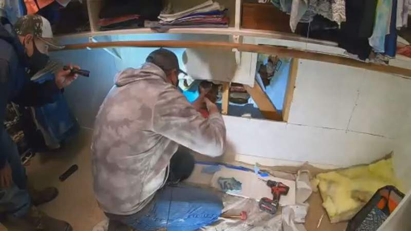 Repairs after pipes burst in homes