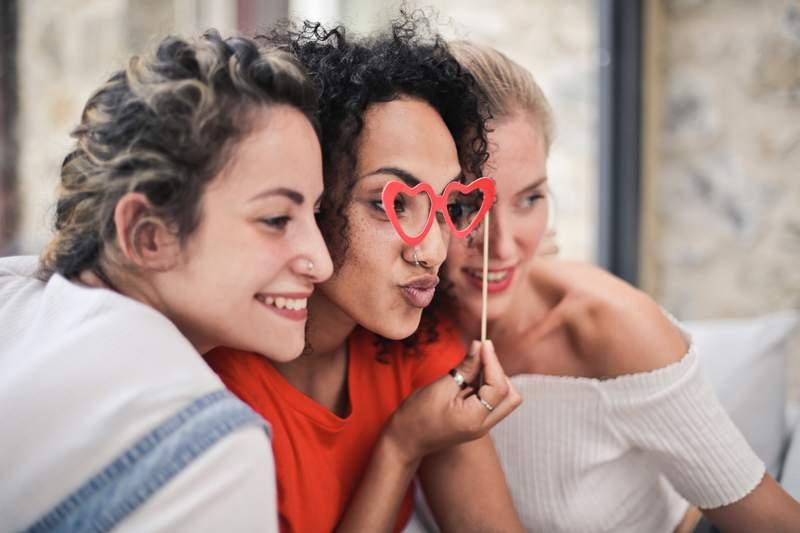 Just three gals celebrating their friendship.