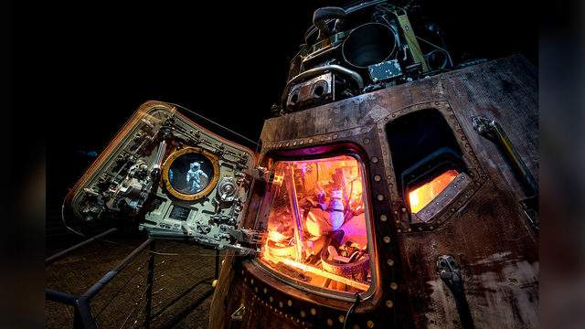Apollo 50 NASA Apollo 17 command module named America.