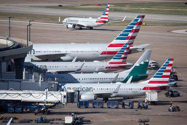 American Airlines jets fill Terminal A at Dallas/Fort Worth International Airport.      (Jeremy Dwyer-Lindgren for USA TODAY via REUTERS)
