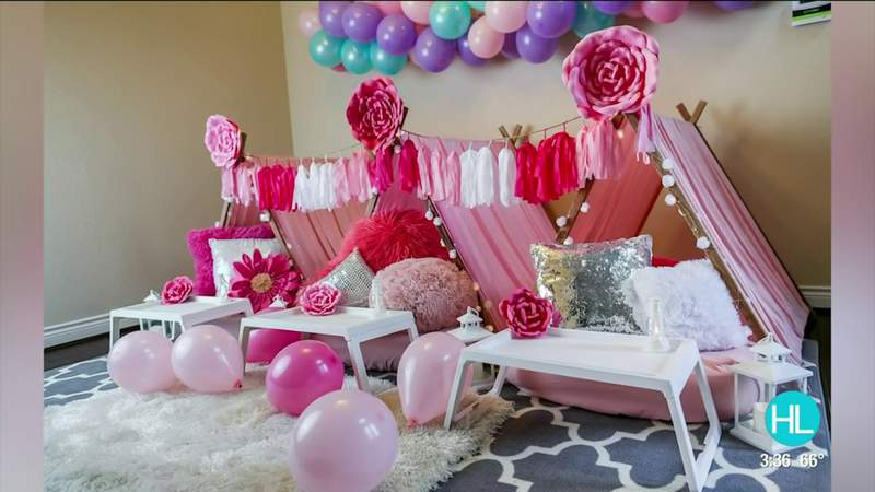 Woodlands mom creates 'The Slumber Party Club' for fun and unique slumber party experience | HOUSTON LIFE | KPRC 2