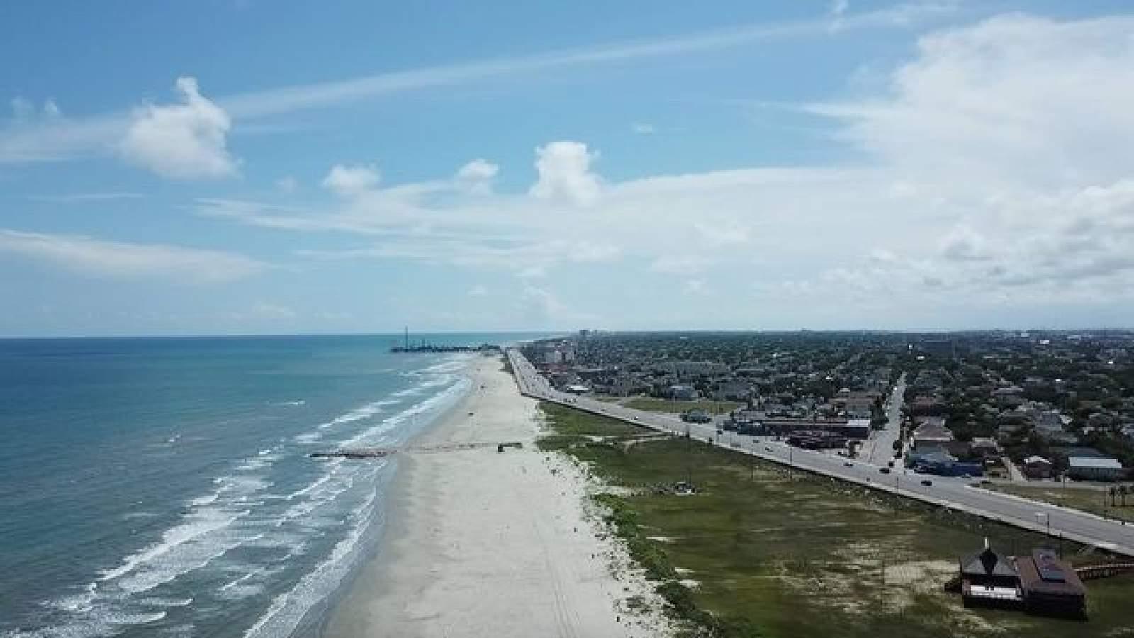See Texans Rush Galveston Beaches As