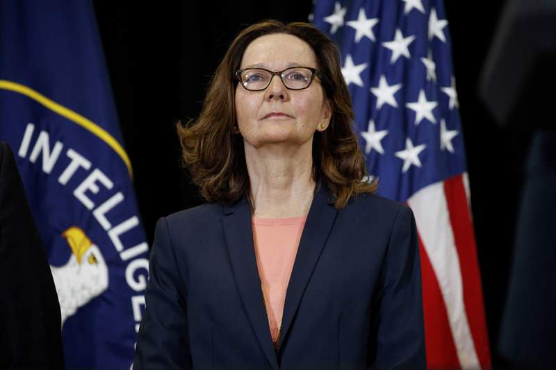 FILE - This May 21, 2018 file photo shows incoming Central Intelligence Agency director Gina Haspel at the agency's headquarters in Langley, Va. The CIA is looking for spies from all backgrounds and walks of life. Striving to further diversify its ranks, the nation's premier intelligence agency launched a new website Monday to find top-tier candidates who will bring a broader range of life experiences.  (AP Photo/Evan Vucci)