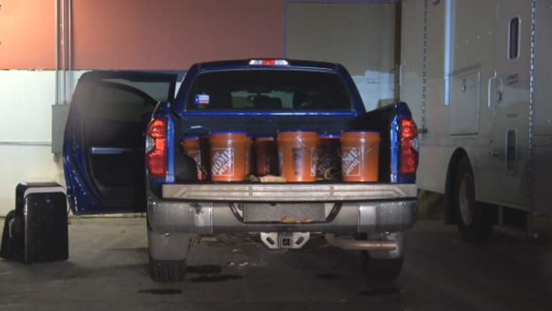 Texas City police discovered 230 kilos of liquid meth during a traffic stop on Monday, May 17, 2021.