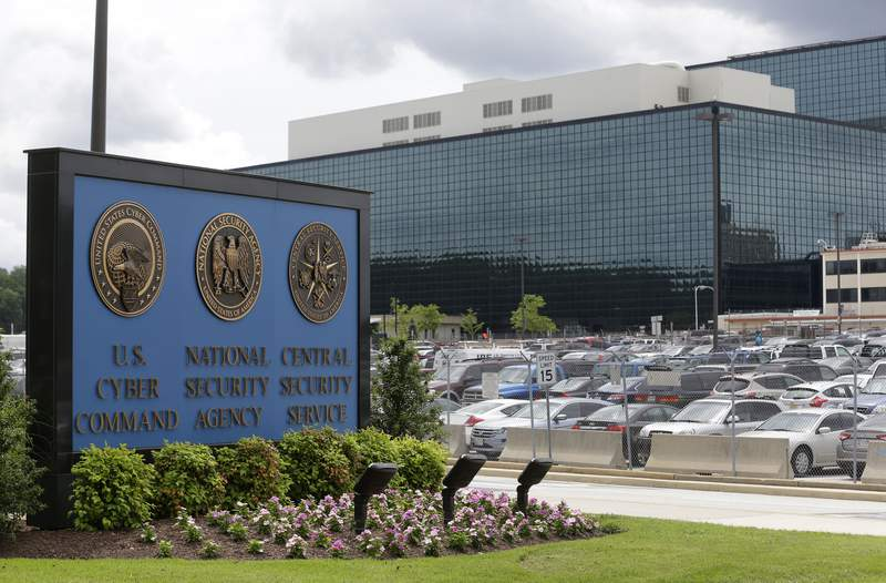 FILE - This June 6, 2013, file photo shows the National Security Administration (NSA) campus in Fort Meade, Md. American officials conducted a cyber operation with Estonia this fall at that countrys invitation. Thats according to officials from both countries. The joint operation is part of an election-season effort to preemptively identify cyber threats from Russia and other adversaries that could be used against U.S. networks (AP Photo/Patrick Semansky)