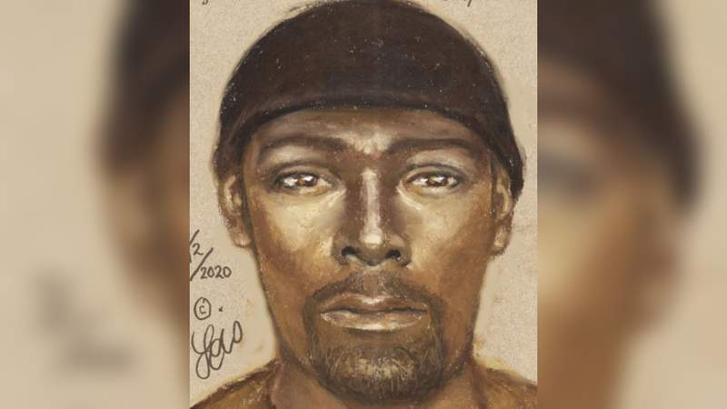 Sketch of a man wanted in connection with a stabbing in northwest Houston.