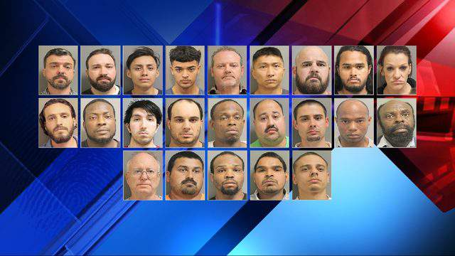 The Houston Police Department along with other agencies held a news conference to announce multiple arrests made in a human trafficking investigation.