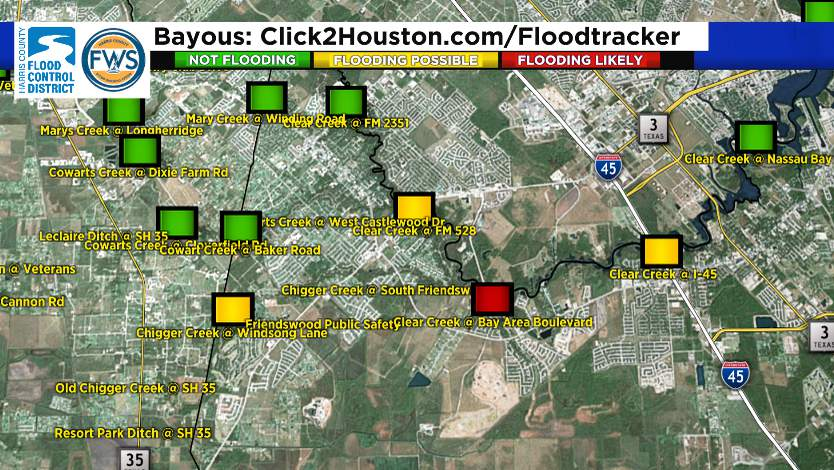 Some areas are still out of bank or close to flood stage