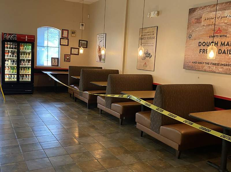 This May 16, 2020 photo provided by Kolache Factory shows the dining area of Kolache Factory in Houston. (via AP)