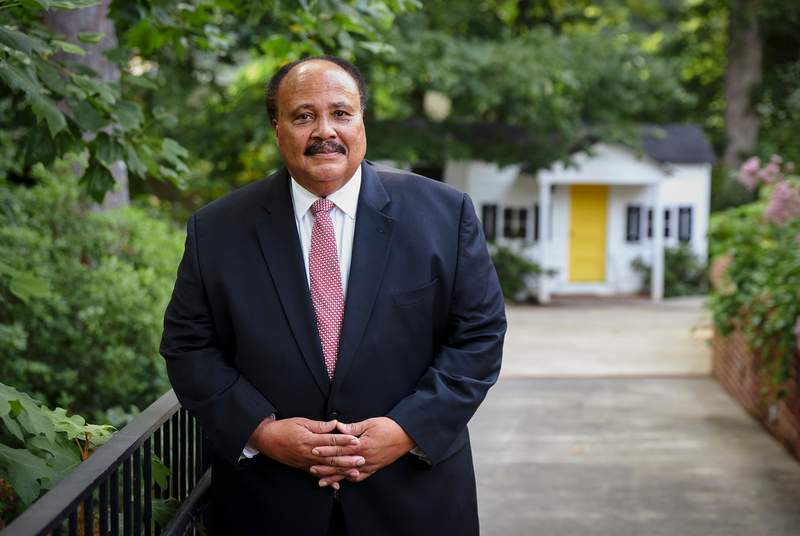 Martin Luther King III at the Atlanta History Center. MLK III is the oldest son of the late Rev. Dr. Martin Luther King Jr. and Coretta Scott King. July 22, 2021.