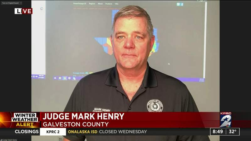 Judge Mark Henry of Galveston County talks emergency preparedness and safety during winter storms