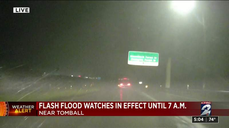 Flash flood watches in effect until 7 a.m. near Tomball