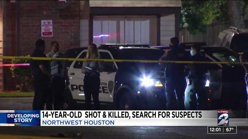14-year-old boy dies after being shot and hit by vehicle in NW Houston; police searching for 2 suspects: HPD