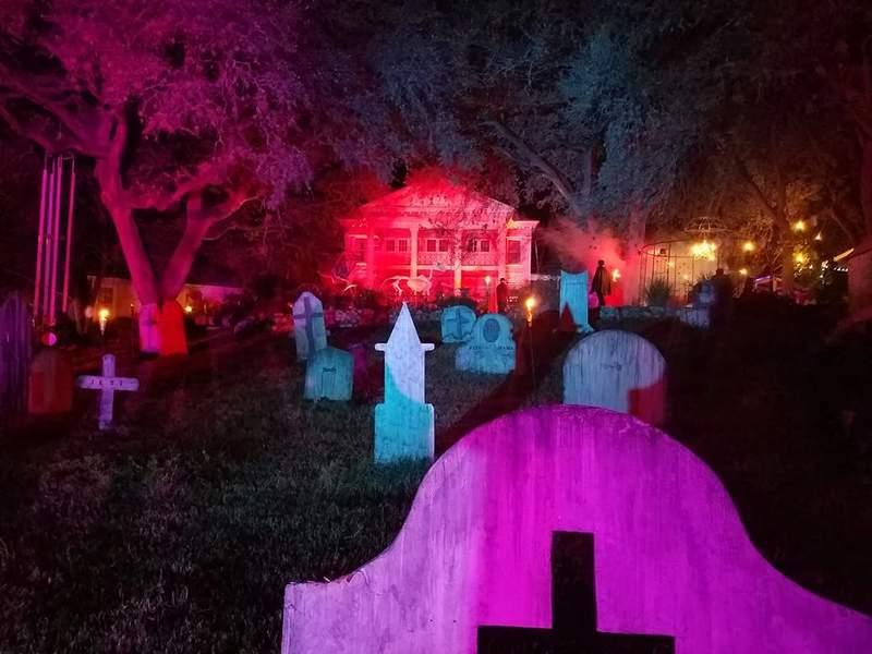Victoria's Black Swan Inn in spooky mode