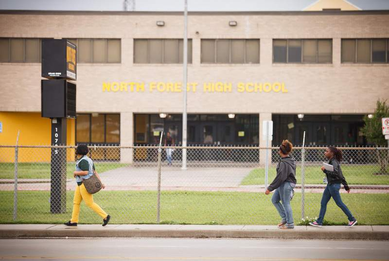 Texas is still temporarily barred from taking over Houston ISD, its largest school district. (Credit: Michael Stravato for The Texas Tribune)