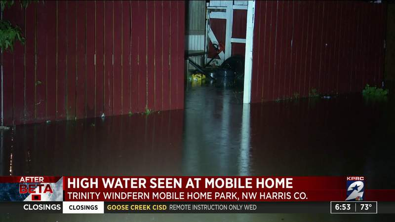 High water seen at mobile homes in NW Harris County