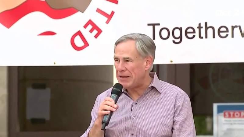 Gov. Abbott speaks at We Are United Rally in Sugar Land