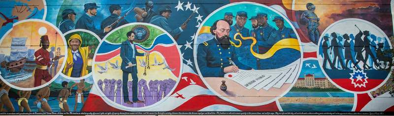 Galveston mural commemorates Juneteenth