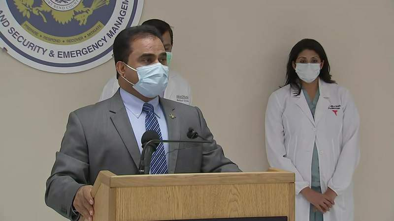 Fort Bend County Judge KP George announces a mask order to go into effect for all residents on June 25, 2020.