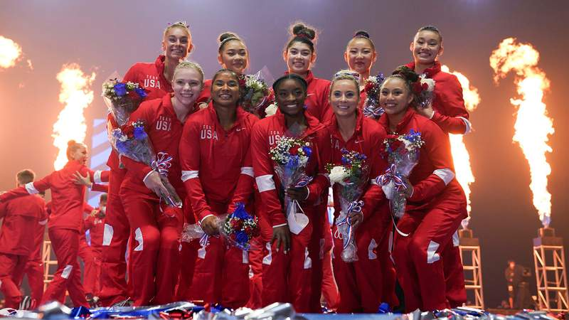 One of the alternate gymnasts for the U.S. team has tested positive for the coronavirus.