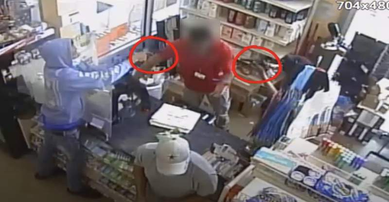 Aggravated robbery at a general store located at the 10800 block of Cullen.