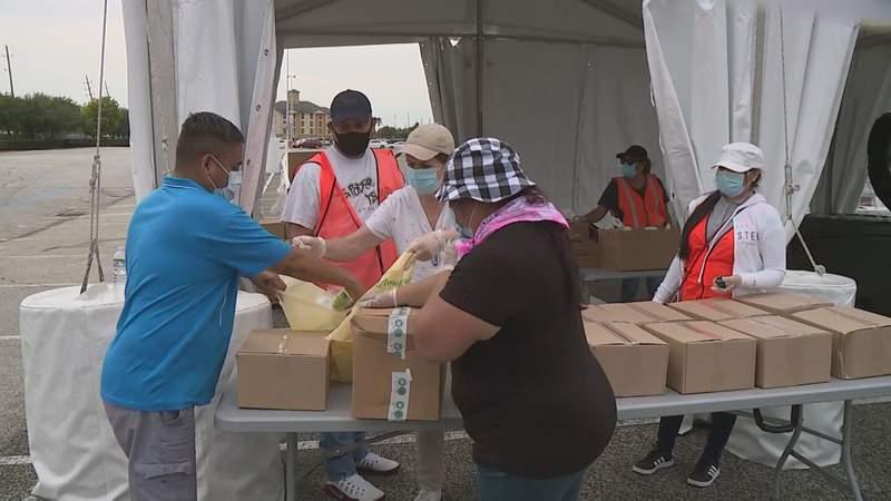 FILE PHOTO: Houston Food Bank HISD Food Distribution Event at NRG Park
