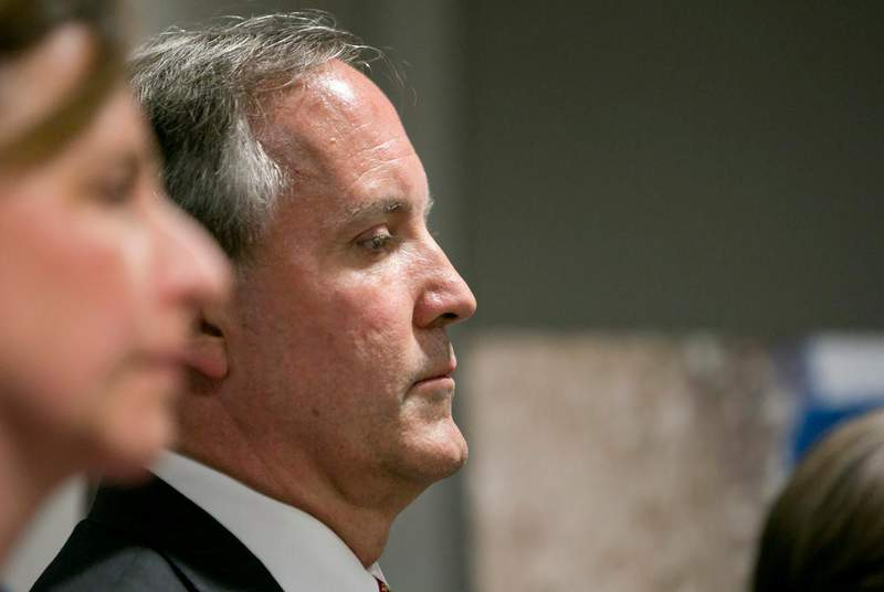 Texas Attorney General Ken Paxton has unblocked on Twitter the nine Texans who sued him after they say they were unconstitutionally blocked for criticizing him or his policies on the social media platform. Credit: Marjorie Kamys Cotera for The Texas Tribune