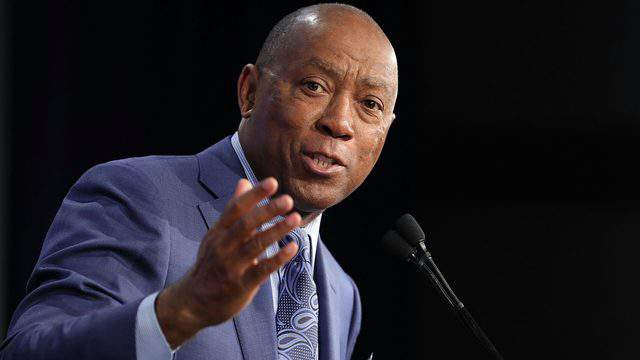 WASHINGTON, DC - JANUARY 25: Houston Mayor Sylvester Turner addresses the U.S. Conference of Mayors 86th annual Winter Meeting at the Capitol Hilton January 25, 2018 in Washington, DC. The non-partisan conference of mayors from cities with populations of 300,000 or larger meet annually in Washington, DC. (Photo by Chip Somodevilla/Getty Images)