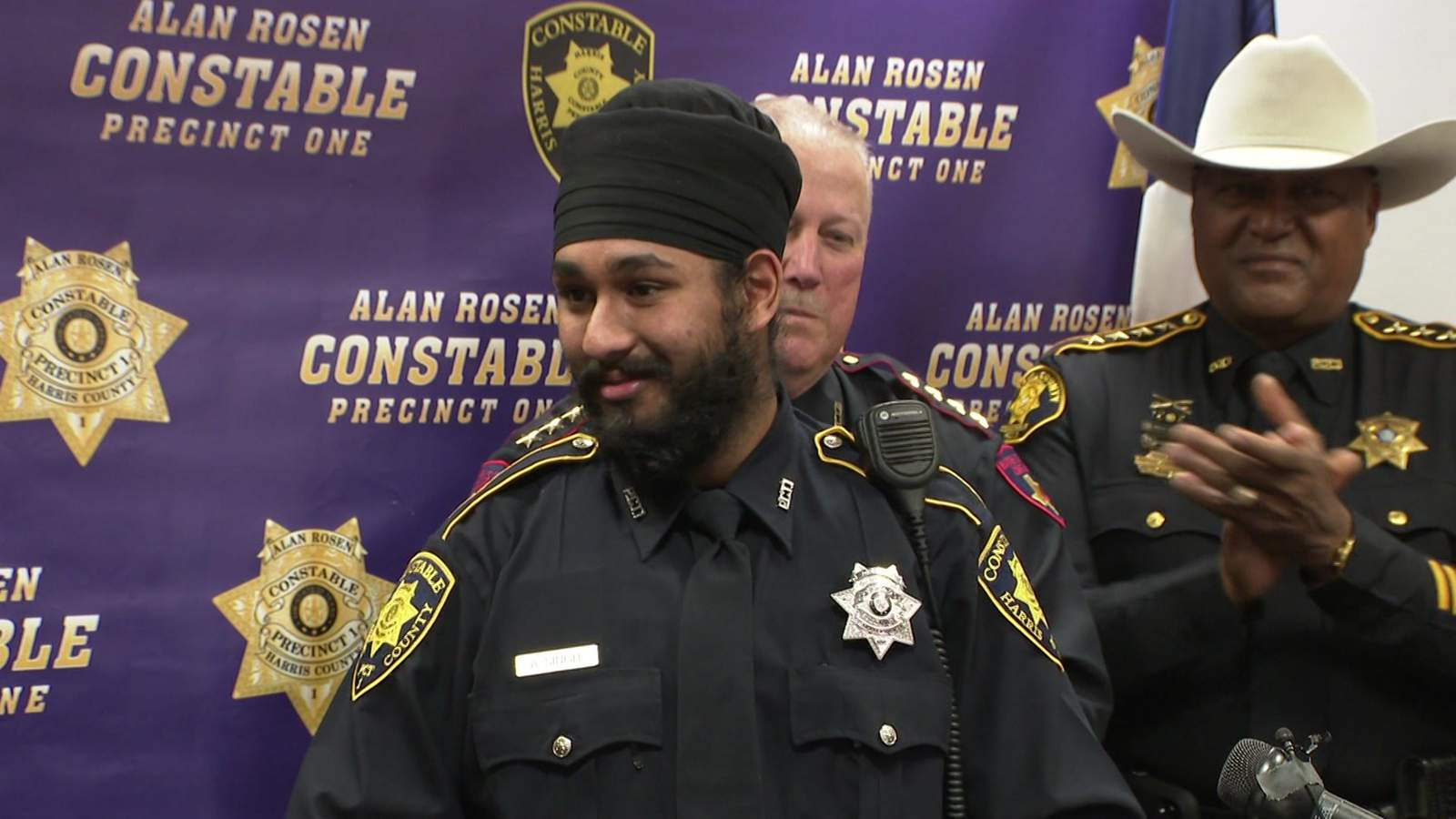First Sikh deputy constable sworn into Harris County Precinct 1 Constable's Office