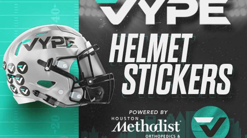 VYPE Class 5A Helmet Stickers powered by Houston Methodist Orthopedics & Sports Medicine: Area (Dec. 17-19)